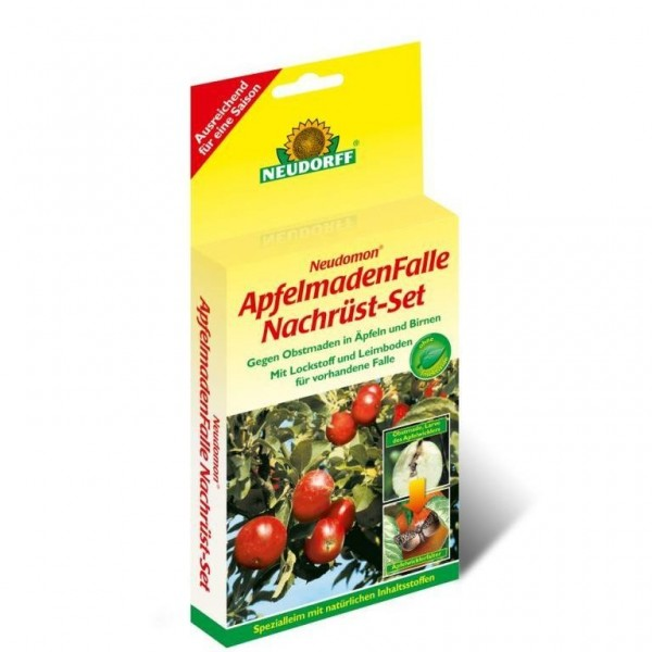 Nachrüst-Set für Neudomon ApfelmadenFalle, 2 Leimböden und 2 Pheromonkapseln