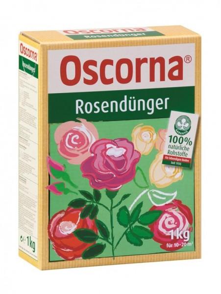 Oscorna Rosendünger organischer NPK Naturdünger auch für Stauden und Blühpflanzen 1 Kg Karton