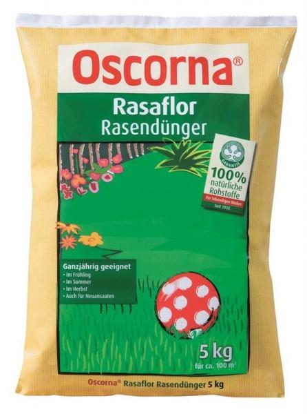 3,39 €/kg Oscorna Rasaflor Rasendünger, organischer NPK Langzeitdünger, 5 Kg Sack