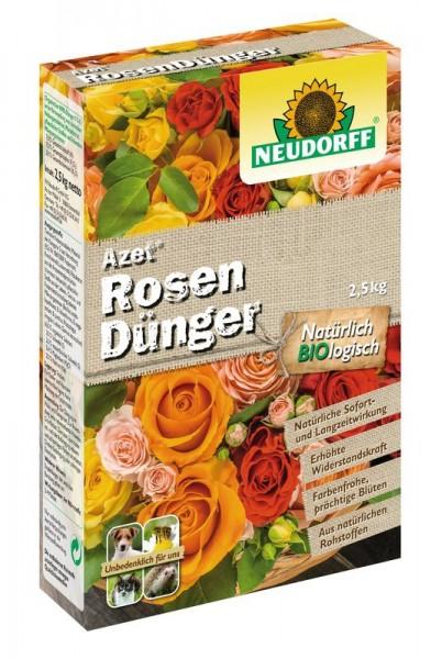 Azet RosenDünger, auch für Stauden und Blühpflanzen mit Langzeitwirkung, 2,5 kg Karton, 3,98 €/ 1 Kg