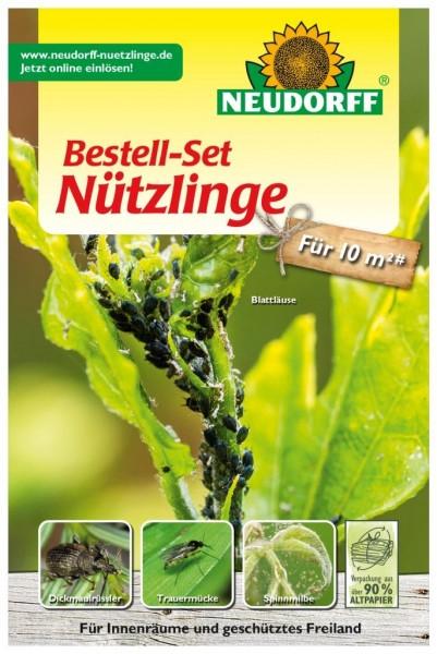 1 Bestell-Set mit Bestellgutschein Nützlinge gegen Schadinsekten – wahlweise für einen der Nützlinge