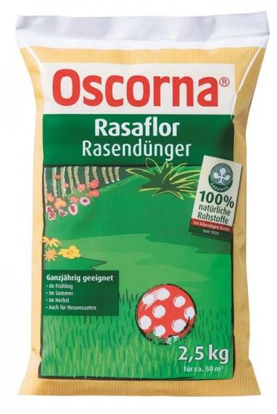 3,58 €/kg Oscorna Rasaflor Rasendünger, organischer NPK Langzeitdünger, 2,5 Kg Sack