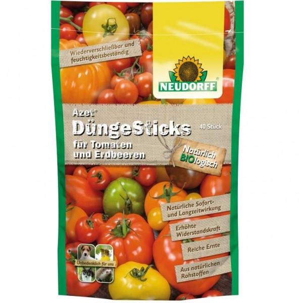 Azet DüngeSticks für Tomaten und Erdbeeren, aus natürlichen Rohstoffen 40 Sticks im Standbodenbeutel