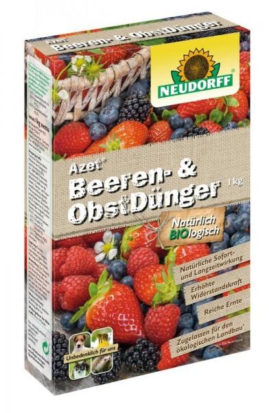 Neudorff Azet Beeren- und ObstDünger organisch Langzeitwirkung für gute Fruchtbildung 1 Kg Packung