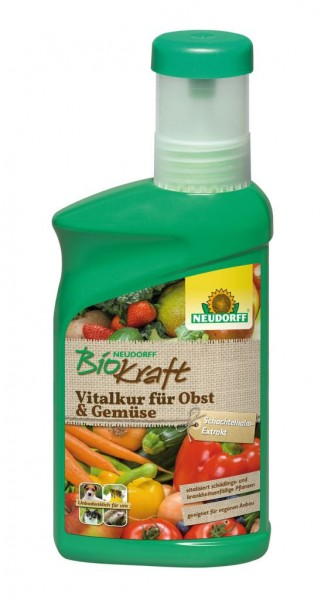 Neudorff BioKraft Vitalkur für Obst und Gemüse, natürlicher NPK-Dünger 300 ml Flasche, 3,32 €/100 ml