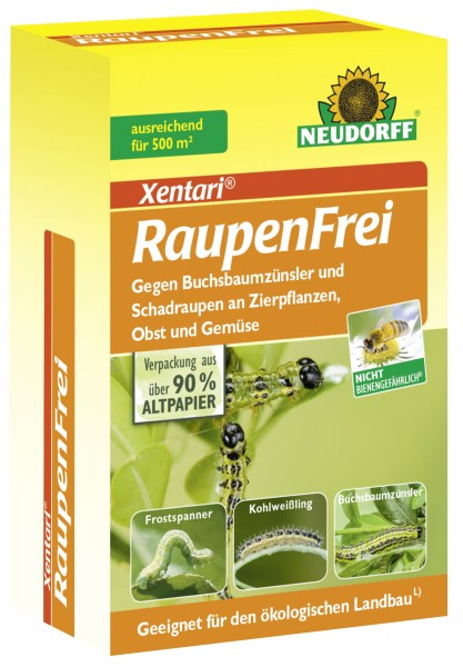 51,80 €/100 g Neudorff Raupenfrei Xentari Bacillus thuringiensis biologisches Präparat 25 g Dose