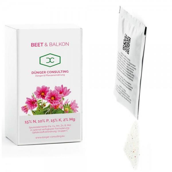 Neu! Dünger für Beet u. Balkonpflanzen, Rosen u. Stauden, 10 Beutel zu je 10 Gramm