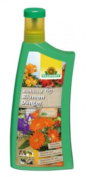 Neudorff BioTrissol Plus BlumenDünger, organischer NPK-Flüssigdünger, 1 Liter Flasche