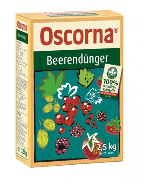 3,98 €/kg Oscorna Beerendünger organischer NPK Naturdünger für Beerenobst und Obstbäume 2,5 Kg Karto