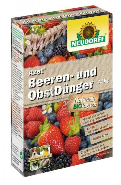 Azet Beeren- und ObstDünger, mit Langzeitwirkung für gute Fruchtbildung, 2,5 Kg Packung, 3,98 €/1 Kg